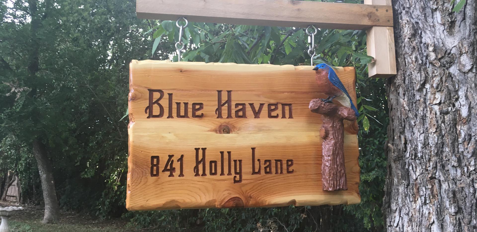 Blue Bird Sign