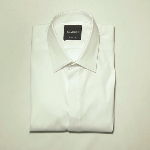 White Cotton Formal Shirt