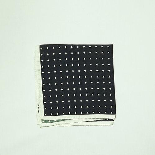 Black with White Polka Dot Pocket Square