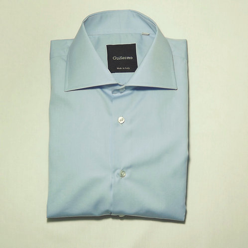 Pale Blue Cotton Dress Shirt