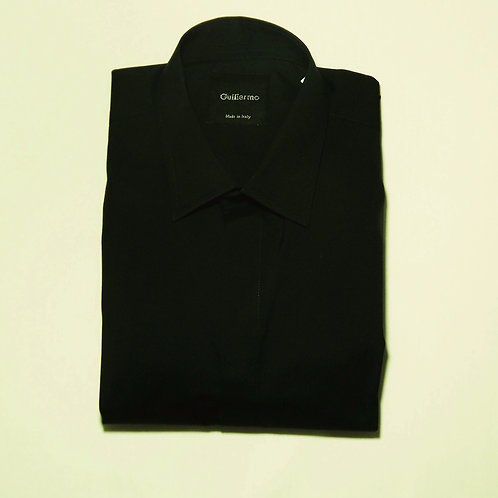 Black Cotton Formal Shirt