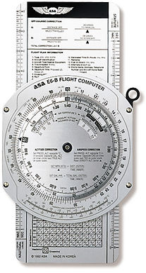 Computador de vuelo ASA EB-6 Aluminio