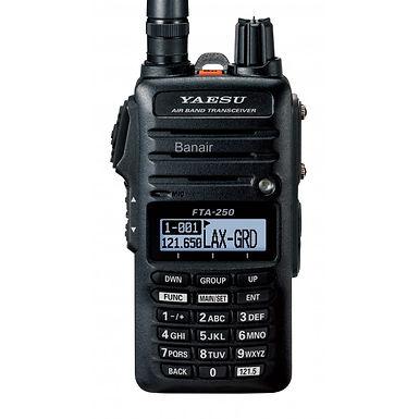 Radio YAESU Vertex FTA - 250L VHF Handheld Radio - banda aérea