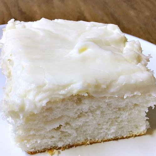 White Cake Bars With Almond Frosting (32-Count)