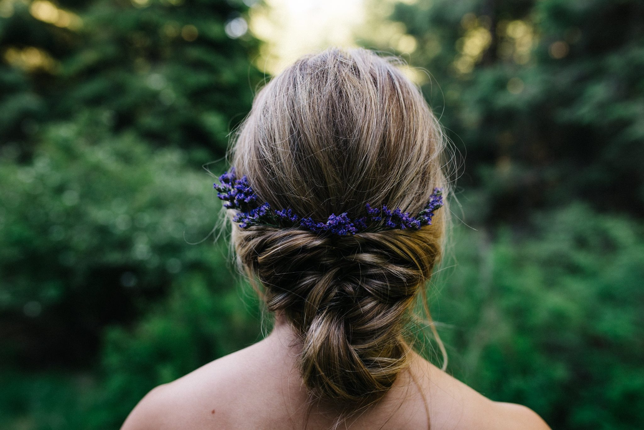 updo with florals