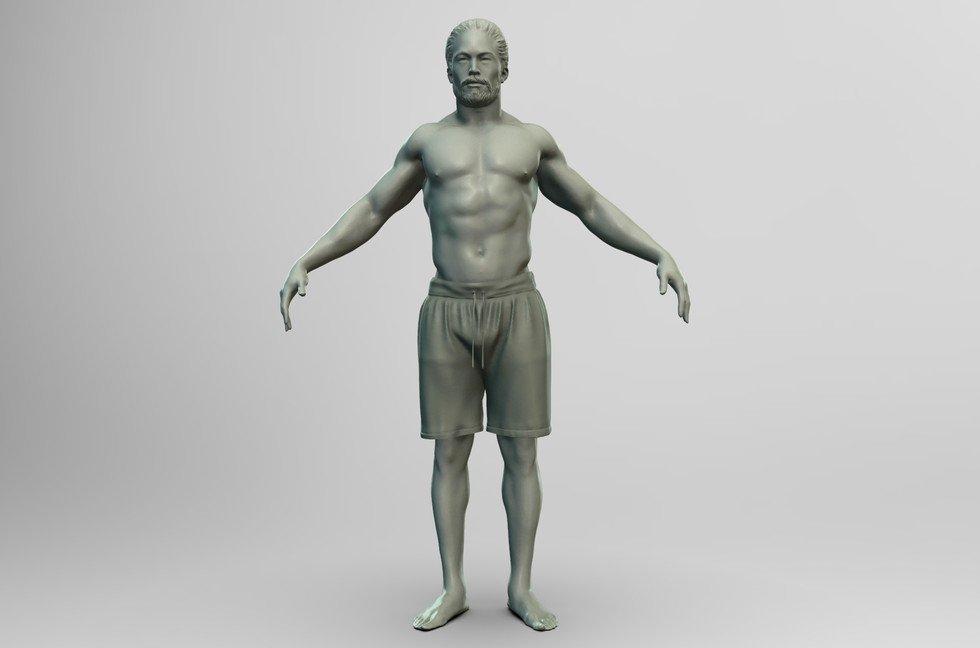 anotomy, poses, cloth study for a AAA project.