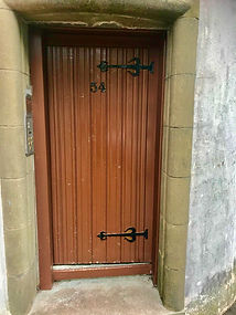 Main door Old Spittal Hospital Apartment Stirling Scotland