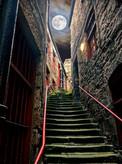'Alley Steps, Newcastle upon Tyne' by Jim Tweedie ( 8 marks )
