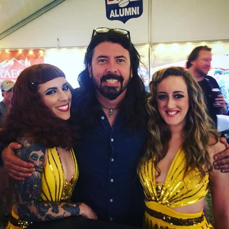Ninja dancers meet Dave Grolh at a festival in Memphis