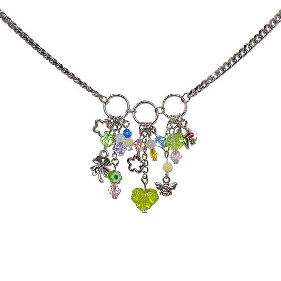 """springtime"" clutter necklace"