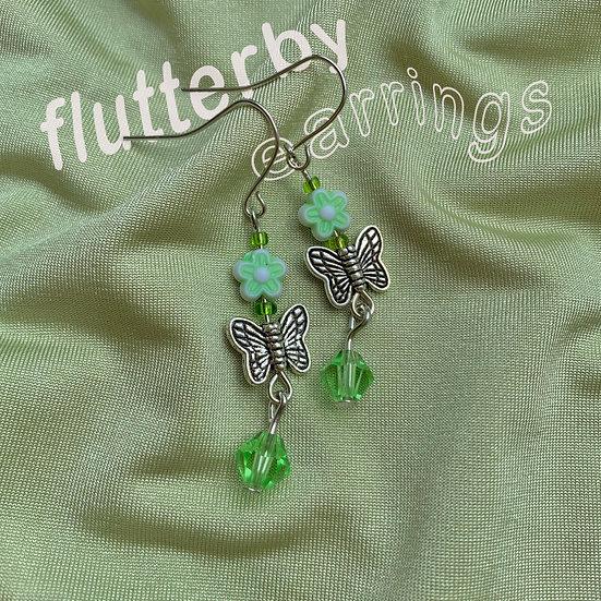 flutterby earrings