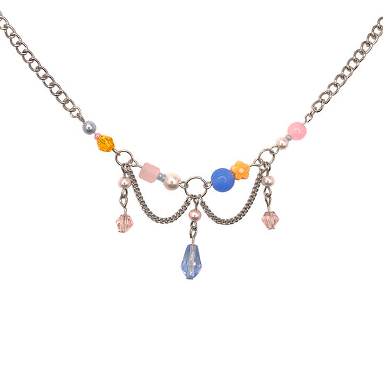 """""""colour theory"""" clutter necklace"""