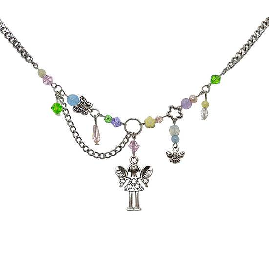 """fayetta"" clutter necklace"