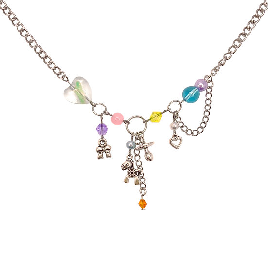 """""""baby shower"""" clutter necklace"""