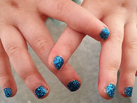 Gorgeous royal blue glitter nails (in Cramlington)