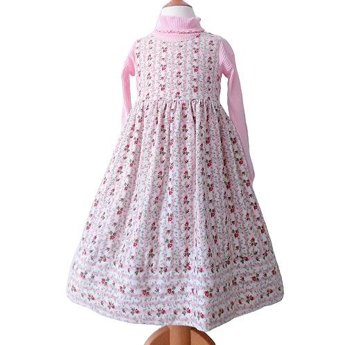 VINTAGE LAURA ASHLEY PINK DRESS & TOP SET 4 YEARS