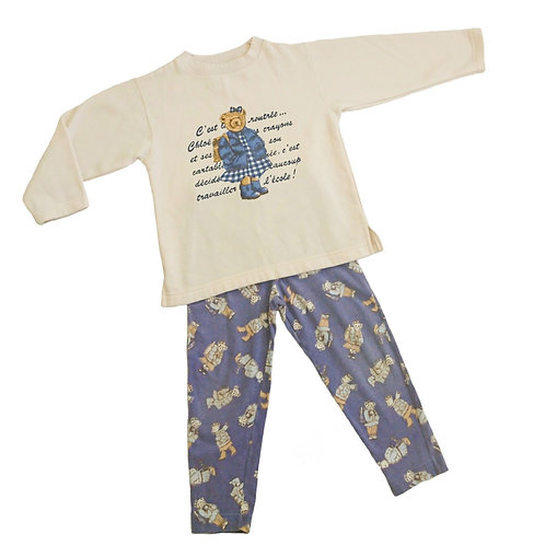 VINTAGE  A L'HEURE ANGLAISE OUTFIT 5-6 YEARS