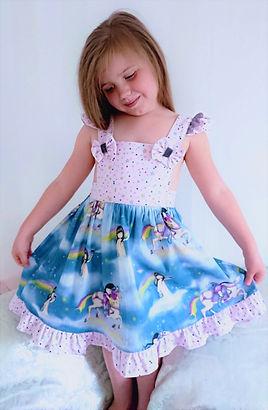 Bespoke handmade clothes for children - bespoke girls pinafore dress