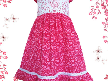 Gorgeous Party Dress in Sommer Red fabric just added!