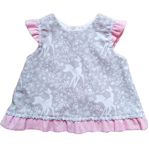 BAMBI FRILL BACK TOP 6-12 MONTHS