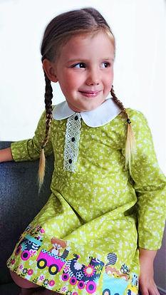 handmade childrens clothes - handmade dress (library dress)