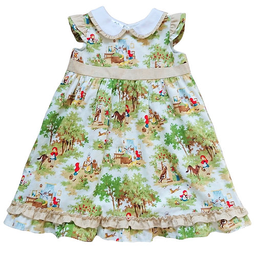 LITTLE RED RIDING HOOD PARTY DRESS 4-5 YEARS