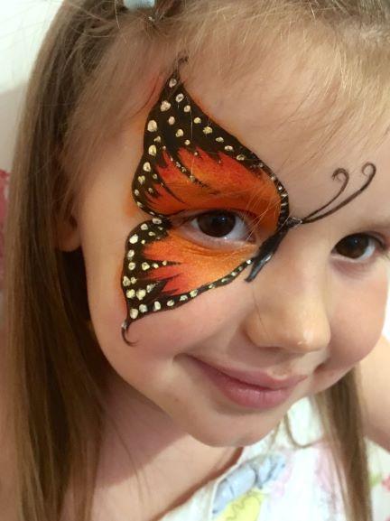 Halloween Butterfly Face Paint Design