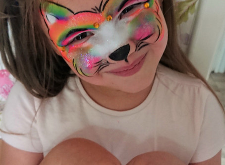 Rainbow Cat Face Paint Design