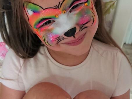 Rainbow Cat Face Paint Design