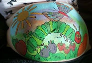 The Very Hungry Caterpillar bump painting design (lots of bright colours) in South Shields