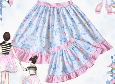 Gorgeous 'Mummy & Me' matching skirt set