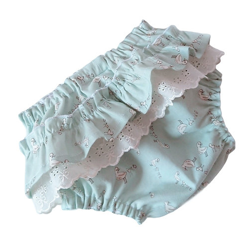 VINTAGE DUCKLINGS FRILLY BLOOMERS NEWBORN