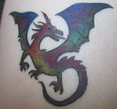 Dragon tattoo in temporary ink