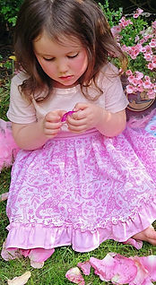 handmade childens clothes - handmade skirt in pink dinosaur fabric