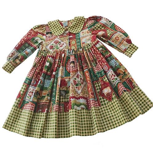 VINTAGE ENGLISH DESIGNER DRESS 2YEARS