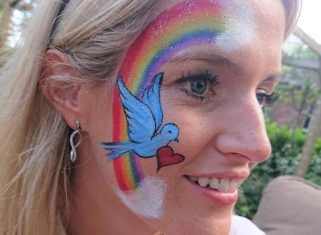 Rainbow Face Painting