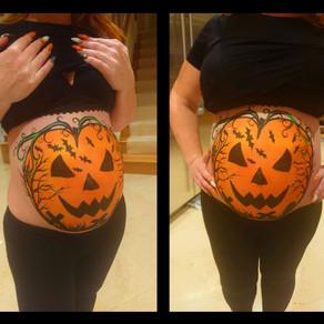 Halloween Baby Bump Painting