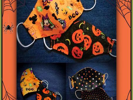 Frightfully fantastic, fun Halloween face coverings.