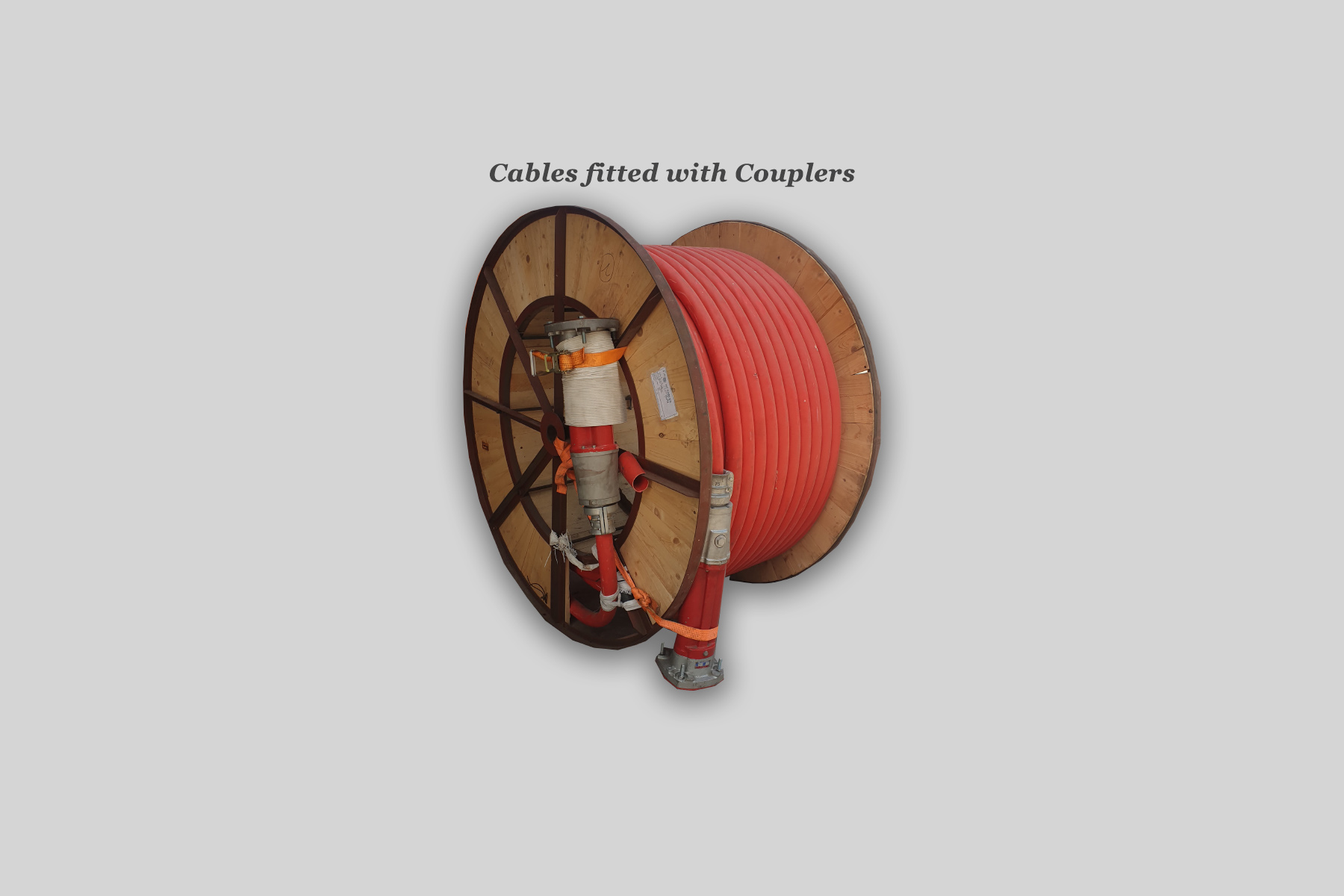 Cables fitted with couplers