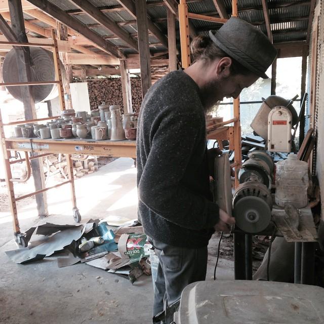 Logan grinding pots