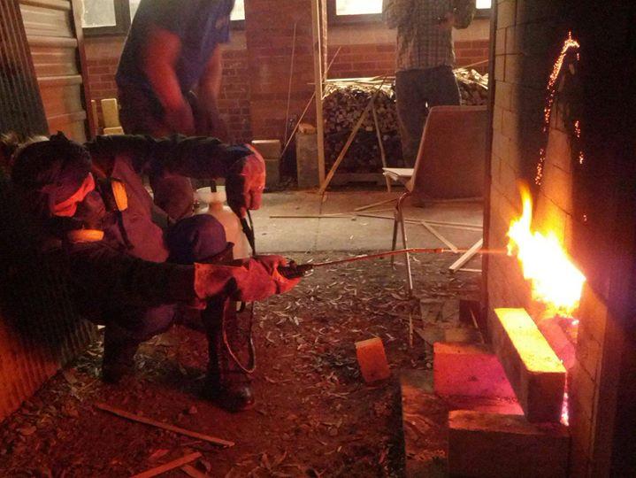 UALR wood firing