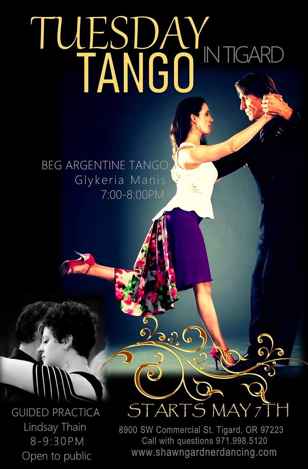 Glykeria, Tango Classes, Tigard Tango, Argentine Tango