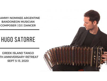 LIVE Music at Greek Island Tango! Grammy-nominated Bandoneonist Hugo Satorre joins us this summer!