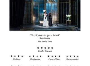 Great reviews for La traviata at Opera Holland Park