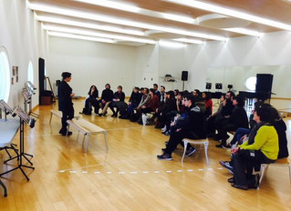 Meeting with the students of the Polytechnic University of Valencia to discuss about the production