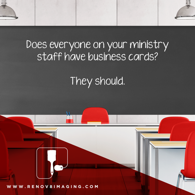 Does your ministry staff have business cards? They should...
