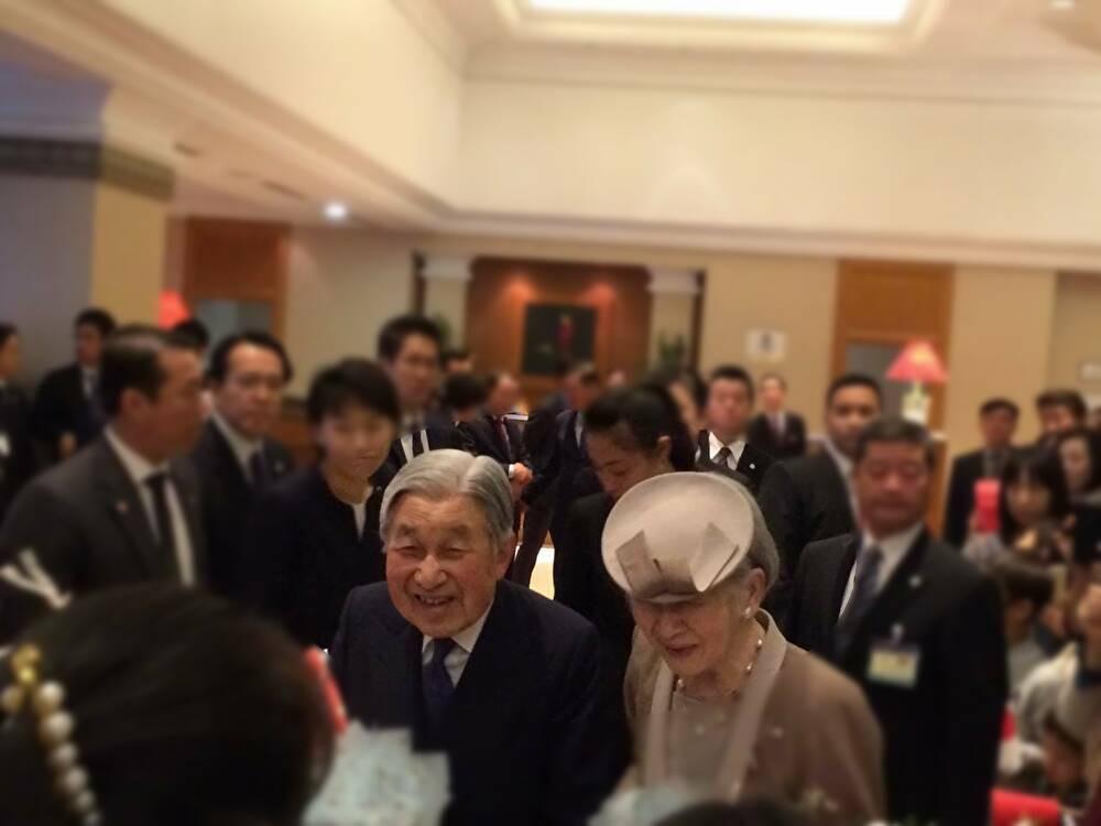 ハノイ某ホテルでの両陛下