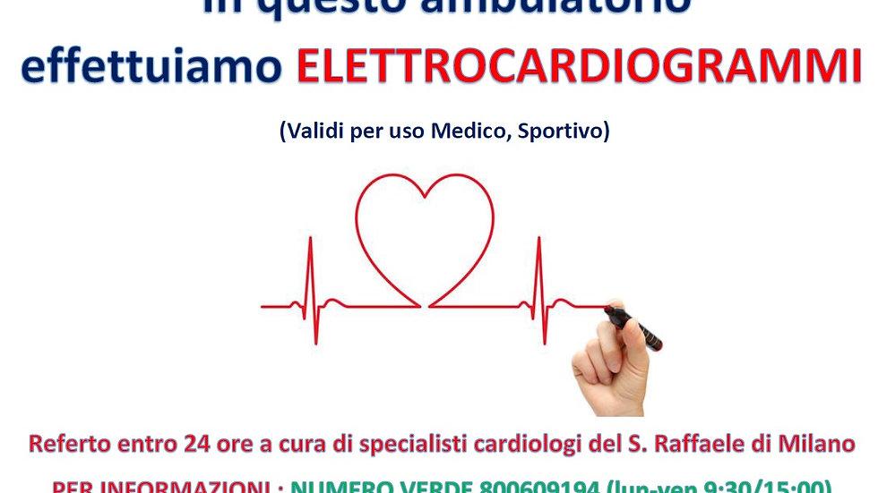 Elettrocardiogramma con telerefertazione immediata