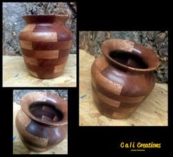 meranti segmented vase