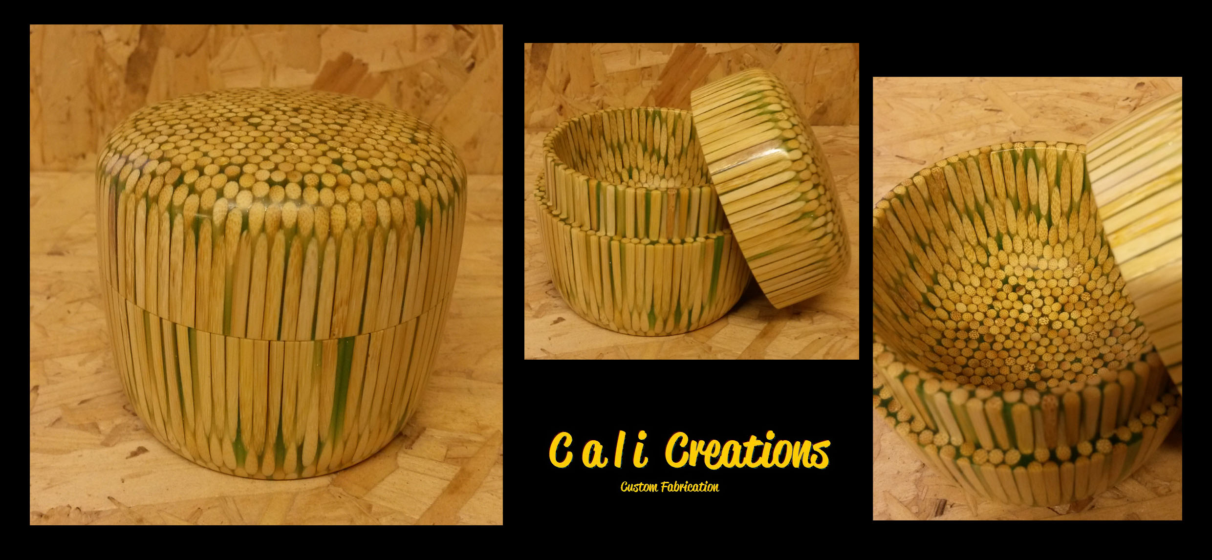 bamboo skewer pot